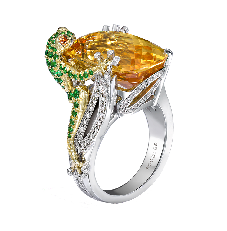 270 boodles citrine frog transparent small