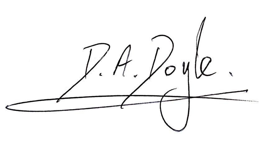David Doyle signature