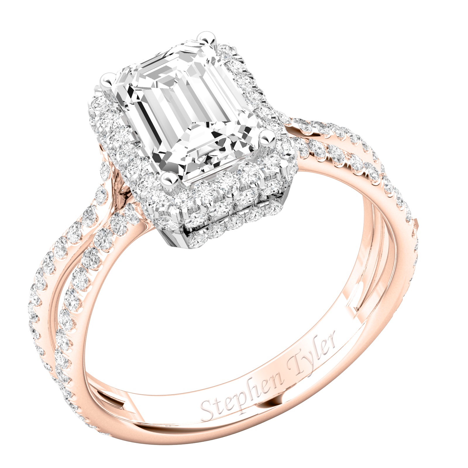 Purely Moonlight Emerald Cut For Evermore PDX892RPL