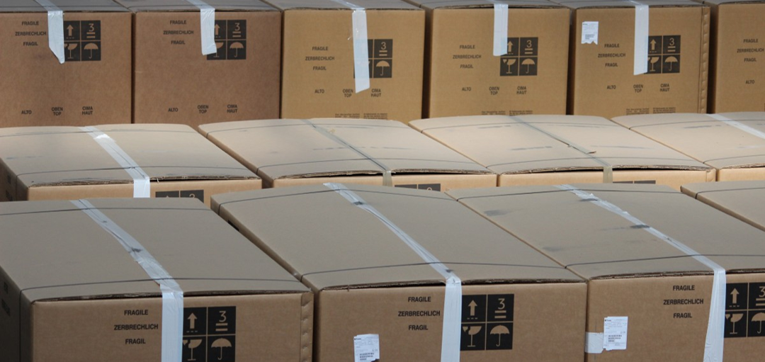 boxes lined up
