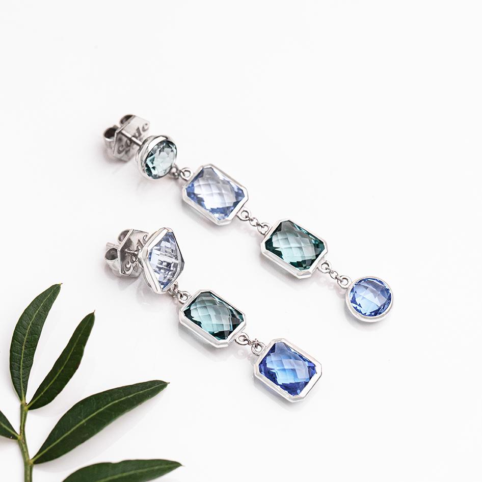 Code by Edge NEW Aquafiore Something Blue 'O' Earrings 1