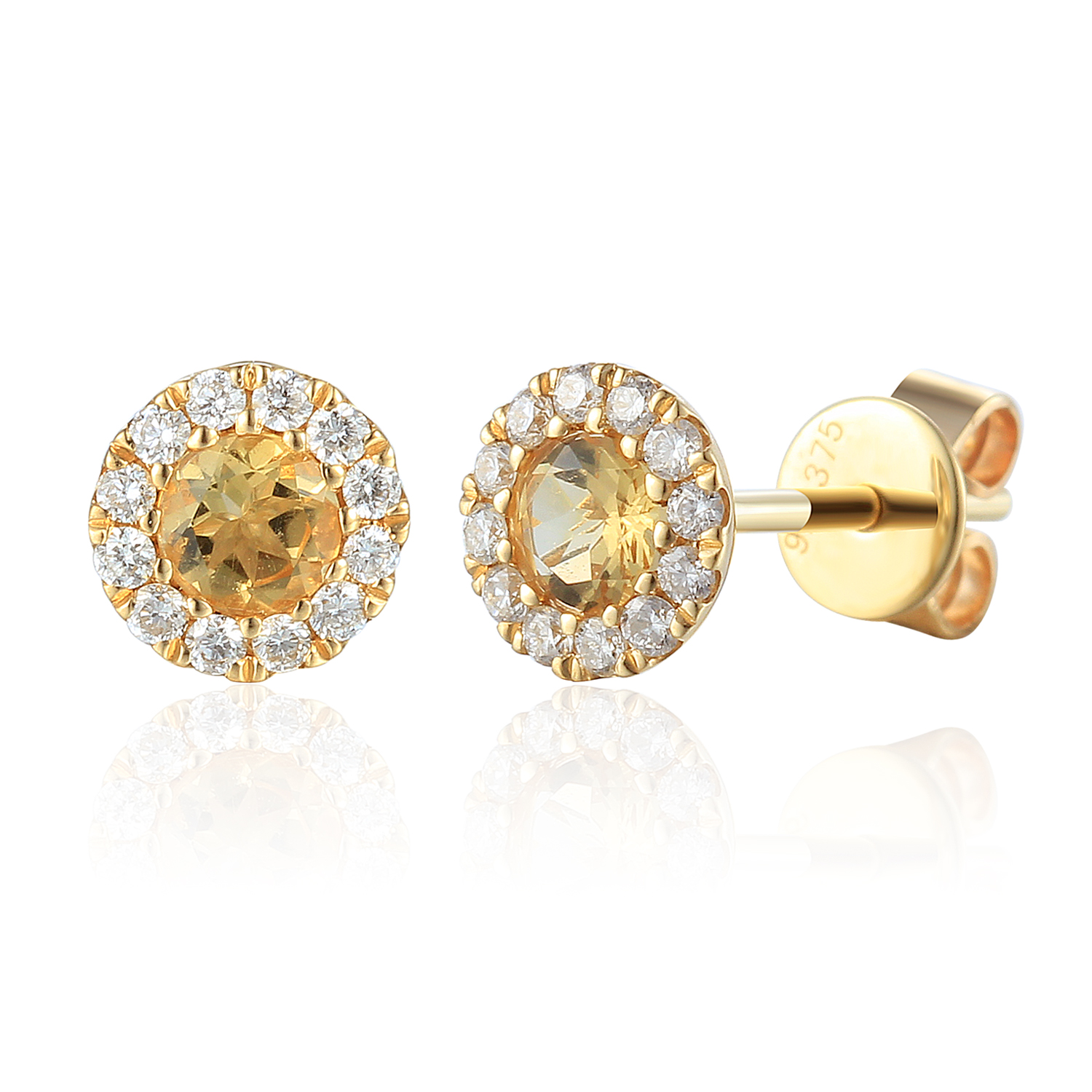 Ntinga citrine stud earrings